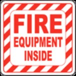 Fire equipment inside